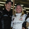 Jessica Dana defeats Jeff Gordon in Kart Race