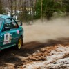 Podium For Erika Detota & Travis Hanson At Rally New York USA
