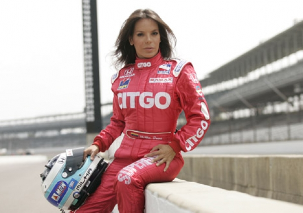 Milka Duno also ranks highly as a female race car driver.