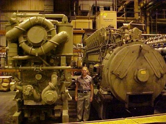 And the reason I moved to Pennsylvania!!! Building giant locomotive diesel engines!!! (2001)