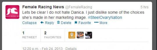 Danica Patrick, FemaleRacingNews, Daytona 500
