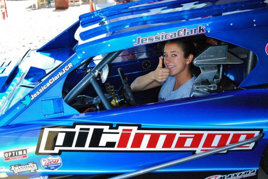 Jessica Clark Racing, Modified, Modifies, Lucas Oil Modified Series, pit image